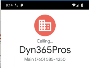Microsoft Dynamics 365 for Sales – Native Click-To-Dial Functionality