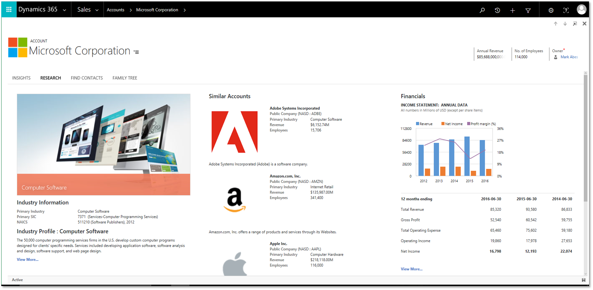 Dynamics 365 Enterprise Edition Sales - Customer Insights