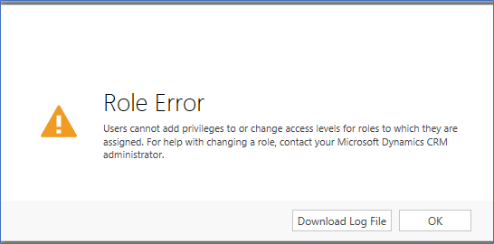 Microsoft Dynamics 365 Security Error