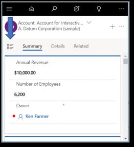 Microsoft Dynamics 365 Unified Interface