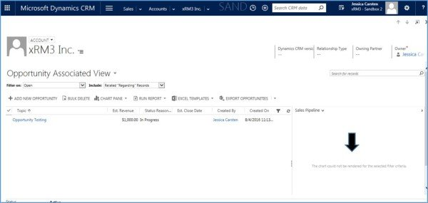 Microsoft Dynamics CRM - Chart Pane Not Rendering in Associated Views 3