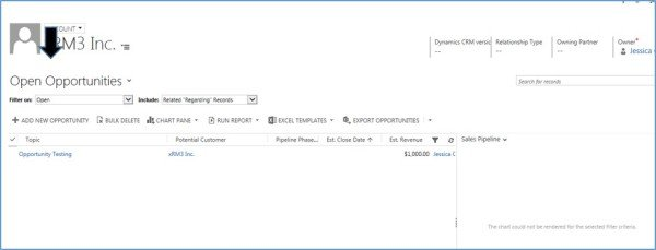 Microsoft Dynamics CRM - Chart Pane Not Rendering in Associated Views 4