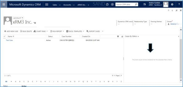 Microsoft Dynamics CRM - Chart Pane Not Rendering in Associated Views 5