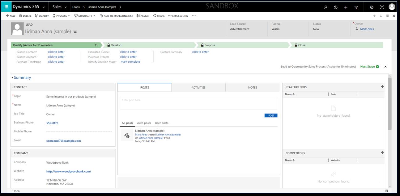 New Microsoft Dynamics 365 Version 9.0