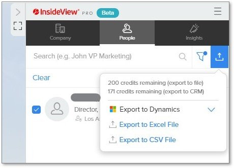 InsideView Insights browser extension